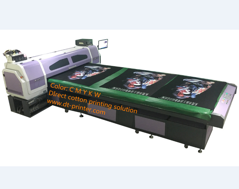 DTG Printer with White Ink Printing