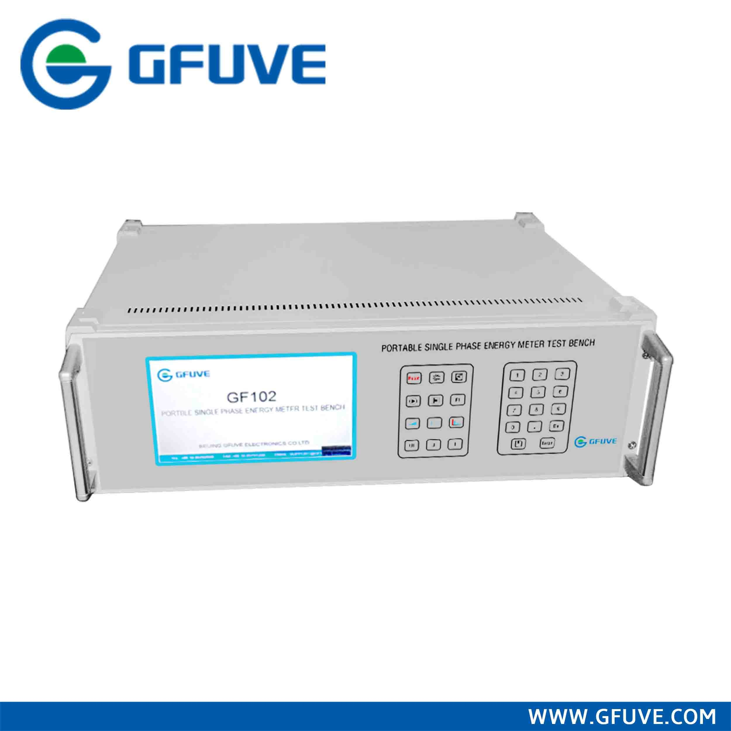 Single Phase Energy Meter Test Bench with Voltage Source and Current Source