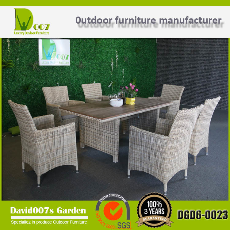 Outdoor Furniture Garden Set Poly Rattan Dining Table Chair Set