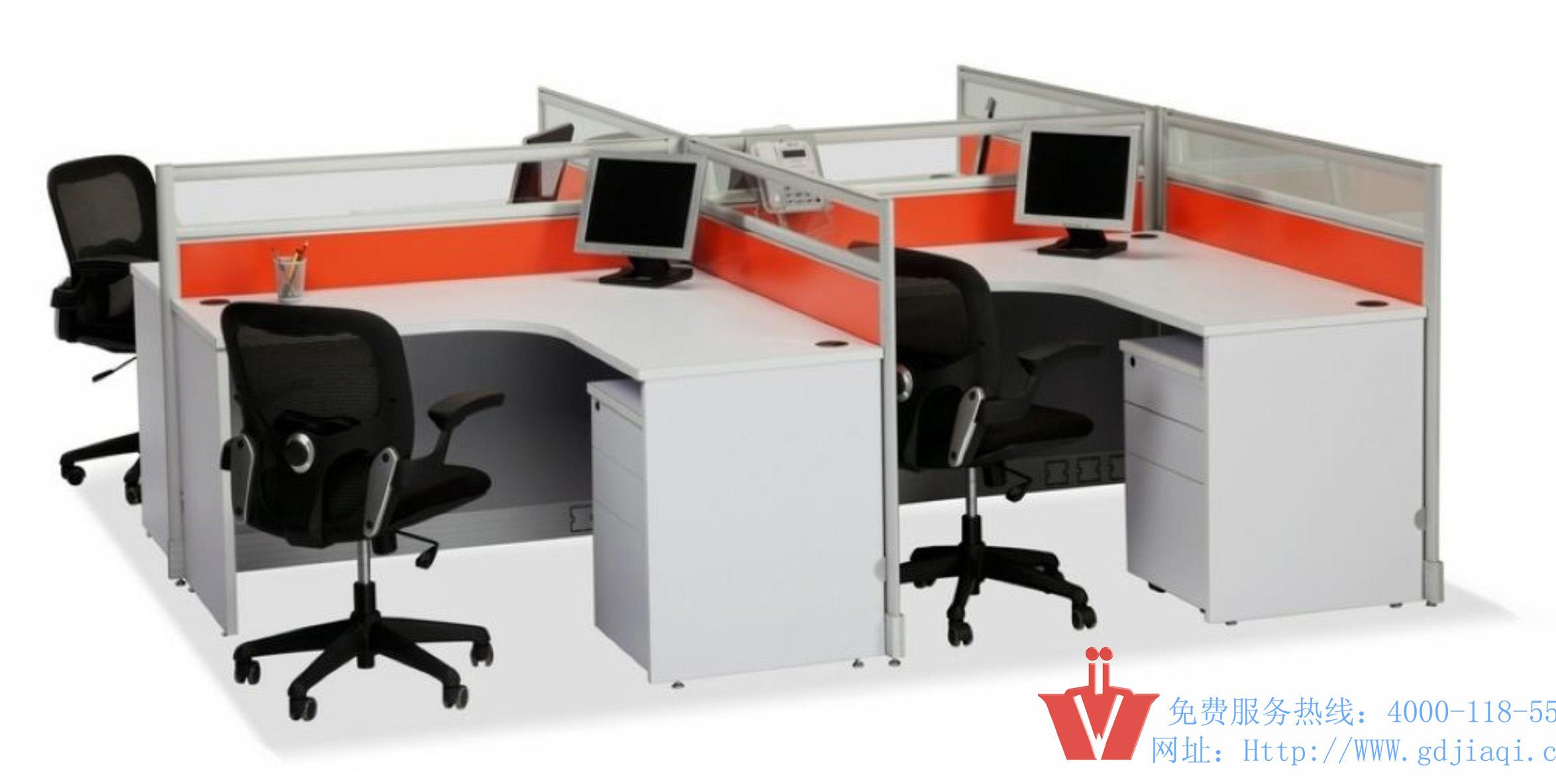Muebles modernos de la partición de la oficina del Cuatro-Asiento (WP2-2017) ...