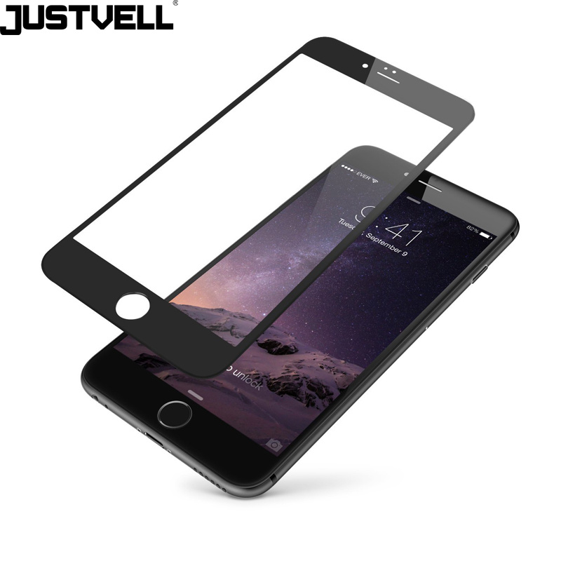Justvell Phone Accessories 3D Curved Edge Protective Tempered Glass Screen Protector for iPhone 6p 6sp 7p