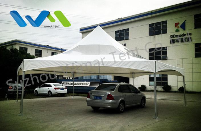 10X10m Hexagonal Pinnacle High Peak Frame Canopy Tent