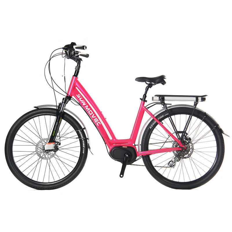 Pink Colored City Bike Lady Ebike Elegant Electric Bike