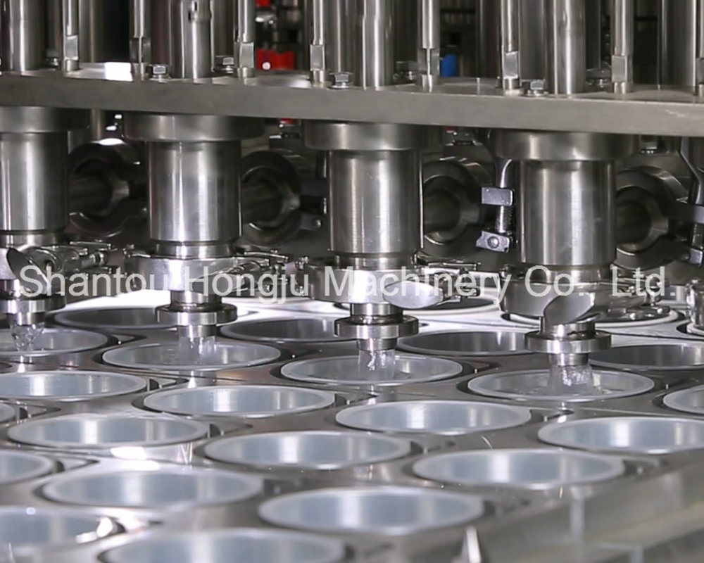 Liquid Filling and Sealing Machine for Plastic Cups