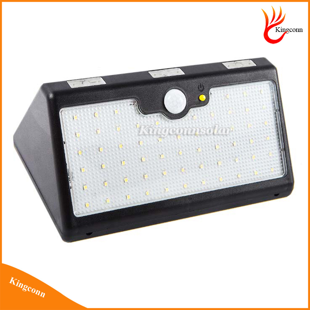 60LED Outdoor Waterproof Solar Security Wall Lamp High Lumen Solar Powered PIR Motion Sensor Light with 3 Modes