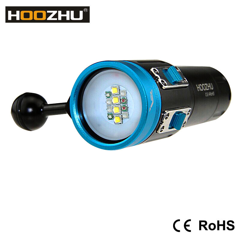 Diving Equipments 2600 Lumens LED Torch with Five Color Light for Diving Video