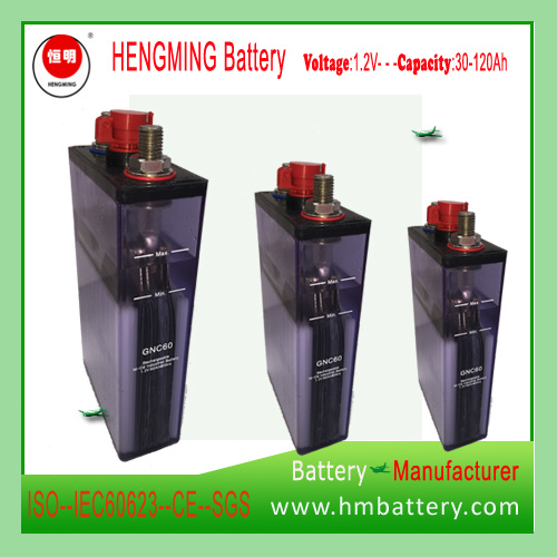 Sintered Type Ni-CD Rechargeable Battery Kpx/Gnc60 for Engine Starting