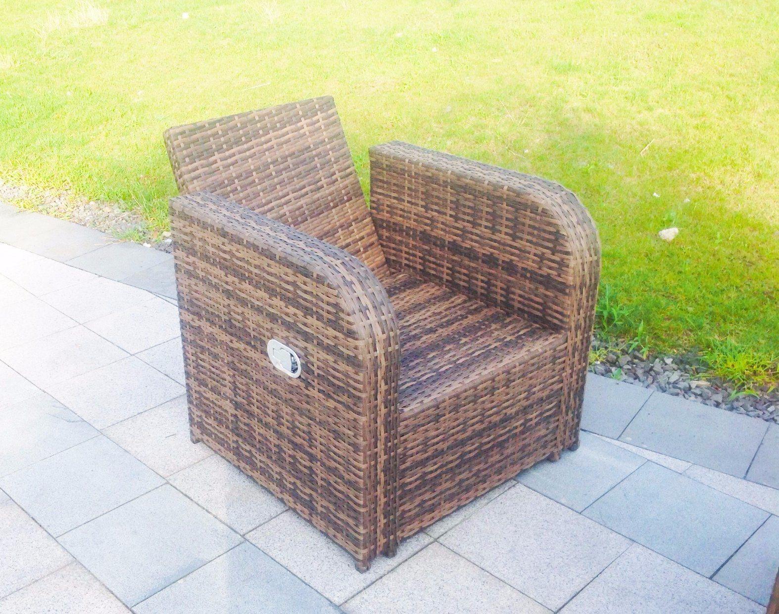 2017 New Design Lay Down Rattan Sofa Garden Outdoor Furniture