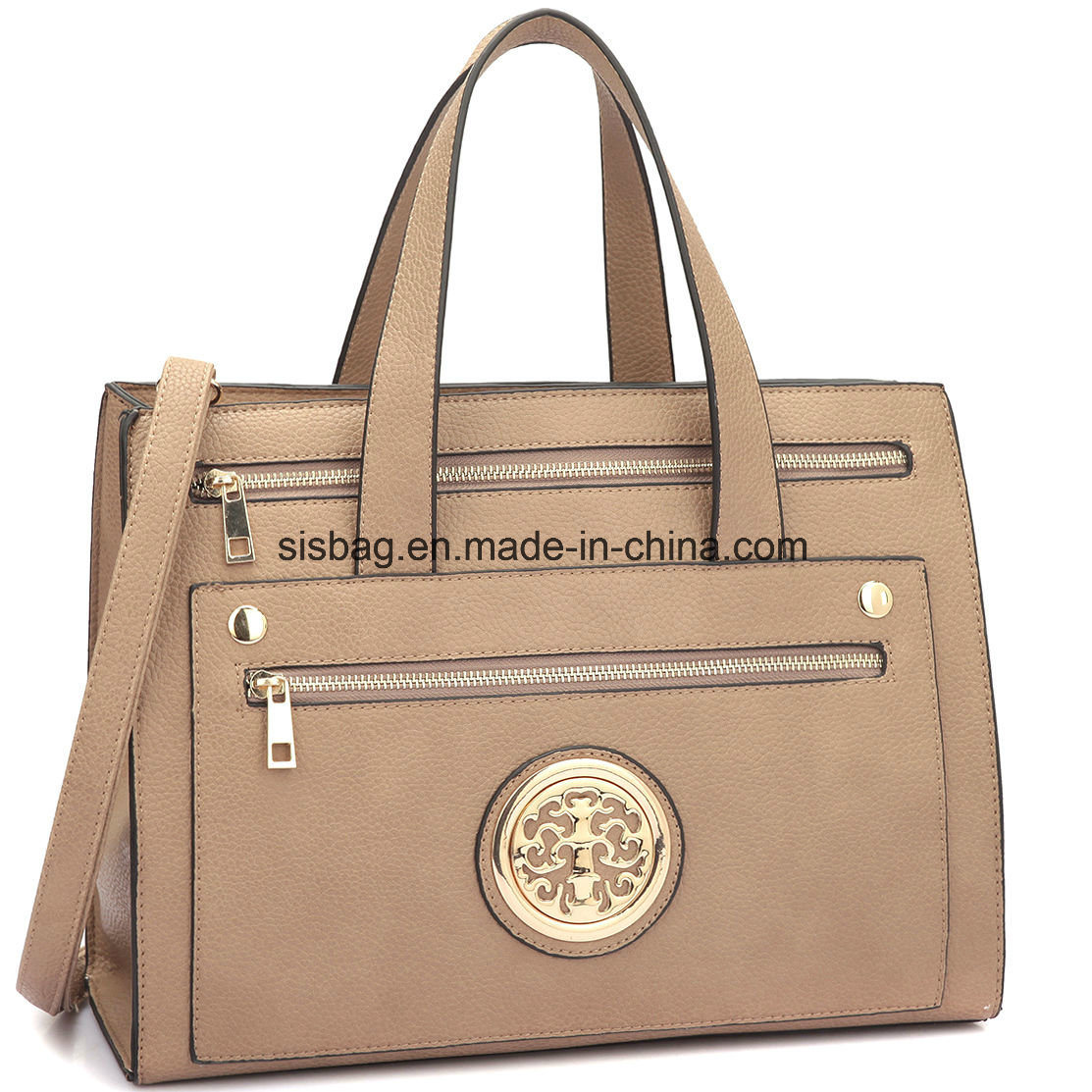 Designer Litchi Grain PU Leather Women Handbag Messeger Bag