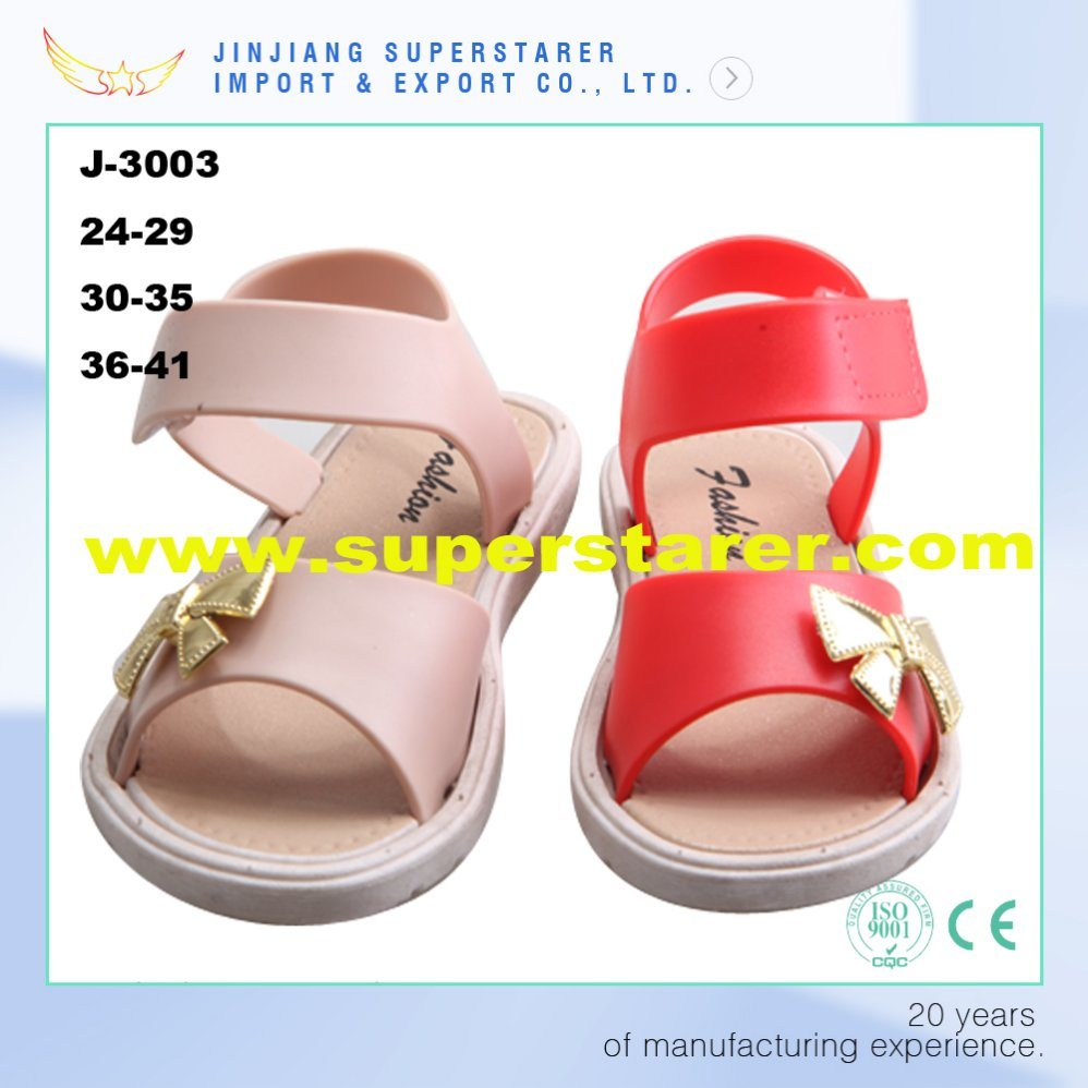 Girls and Women Ladies Flat Sole PVC Upper Jelly Sandal