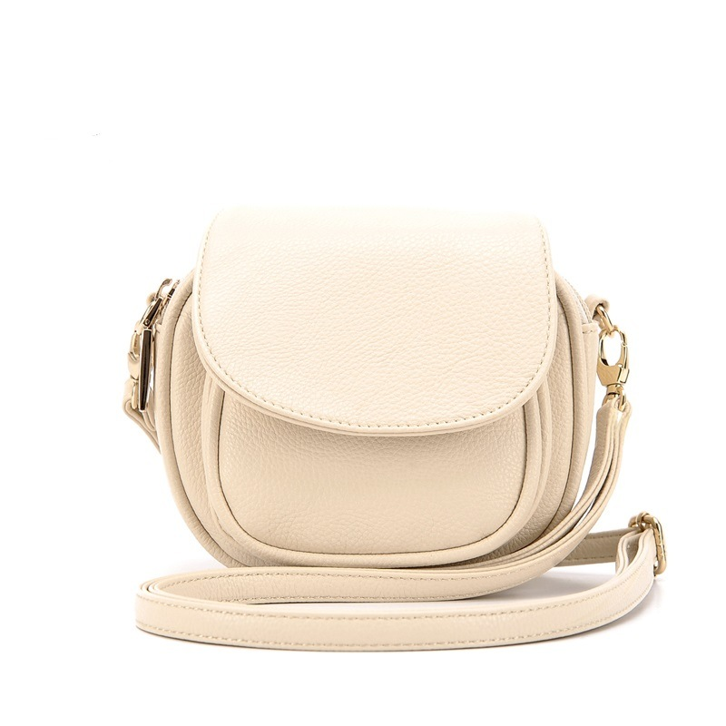 Simple Style Candy Color Mini Saddle Bag