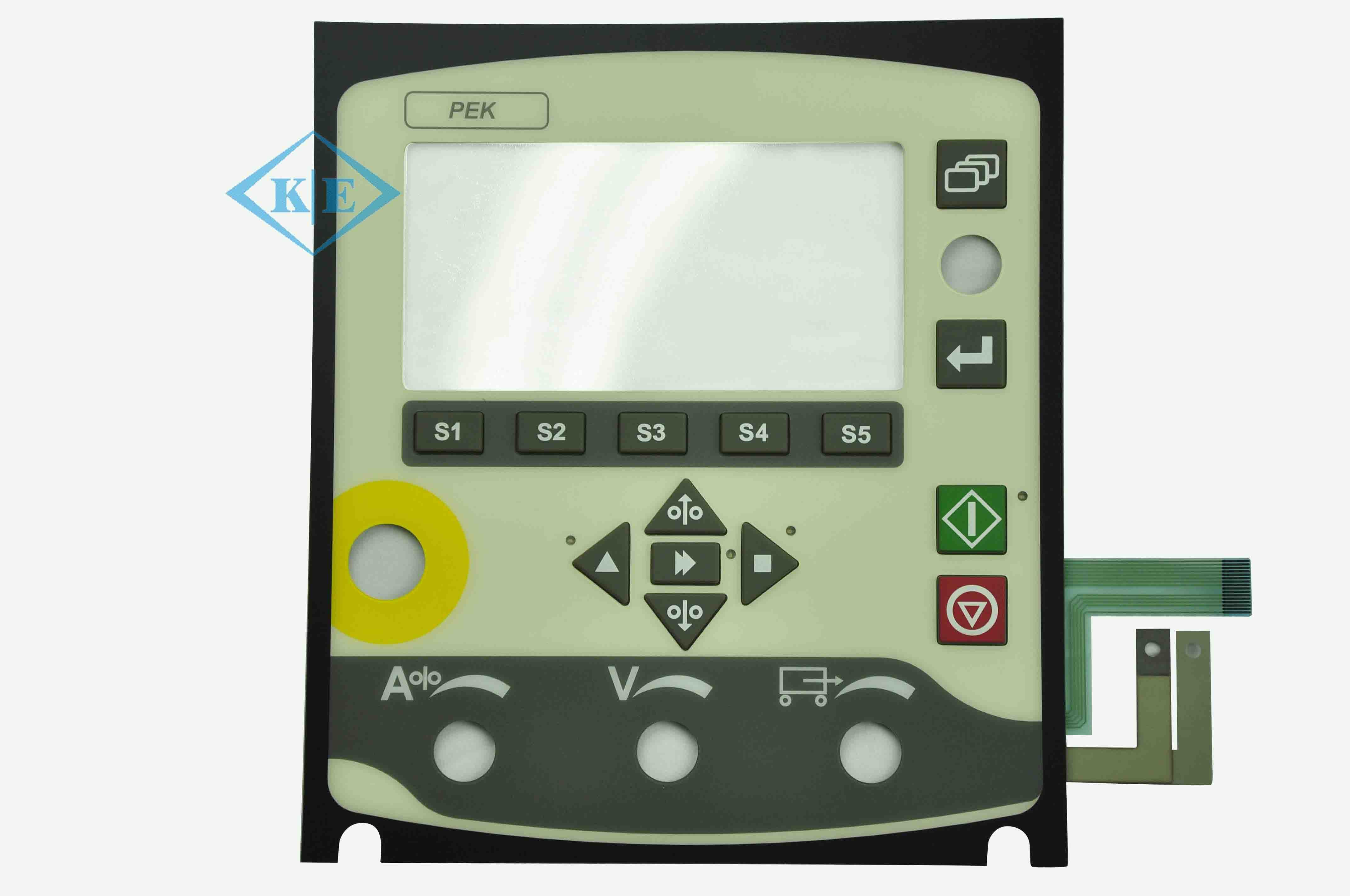 Kingbright LED Rim Embossed Control Panel Membrane Switch for Caterpillar