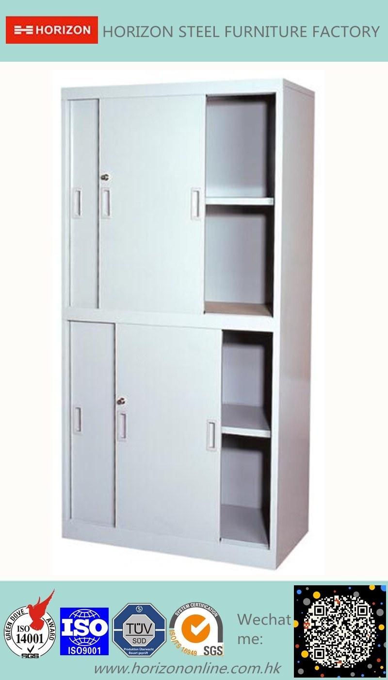 Two Sliding Doors Steel Filing Cabinet