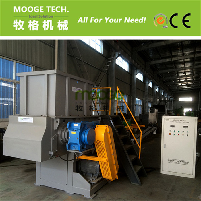 Waste Car Tire Rubber single shaft plastic shredder machine