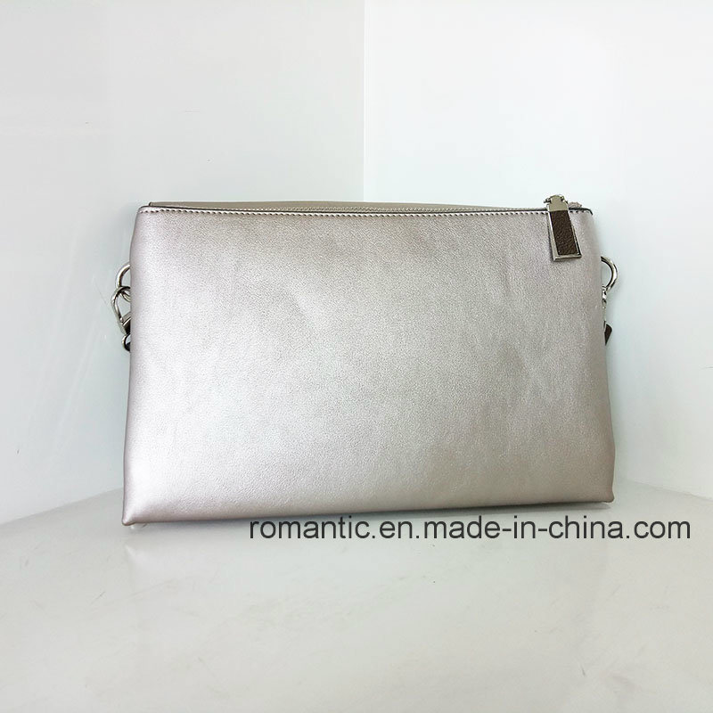 Promotional Lady PU Embroidered Handbags Leather Clutch Bag (NMDK-040302)