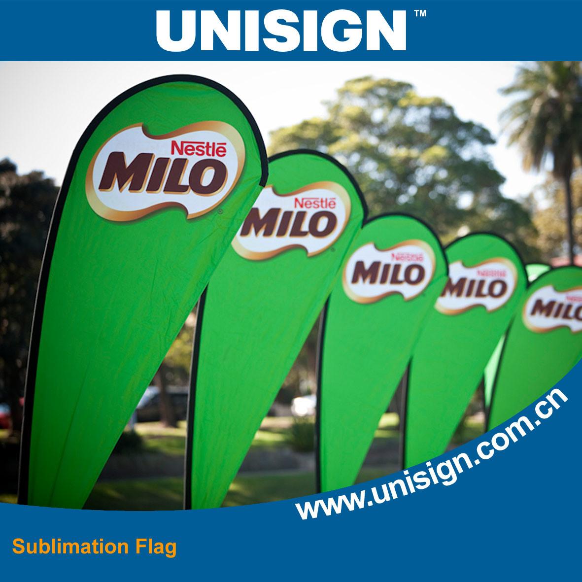 Direct Sublimation Printing Mesh Flag/ Direct Printing Flag Fabric