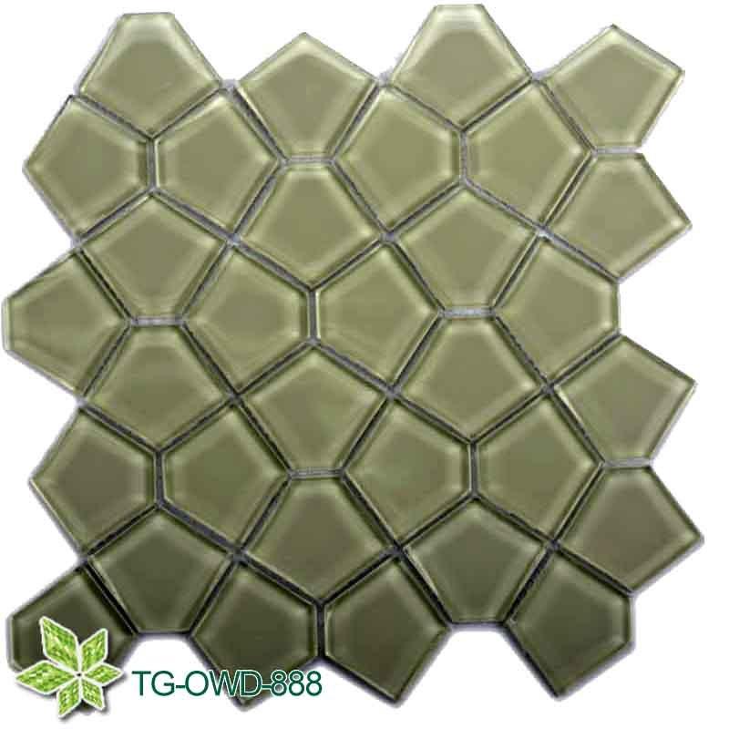 Green Irregular Glass/Glass Mosaic (TG-OWD-888)