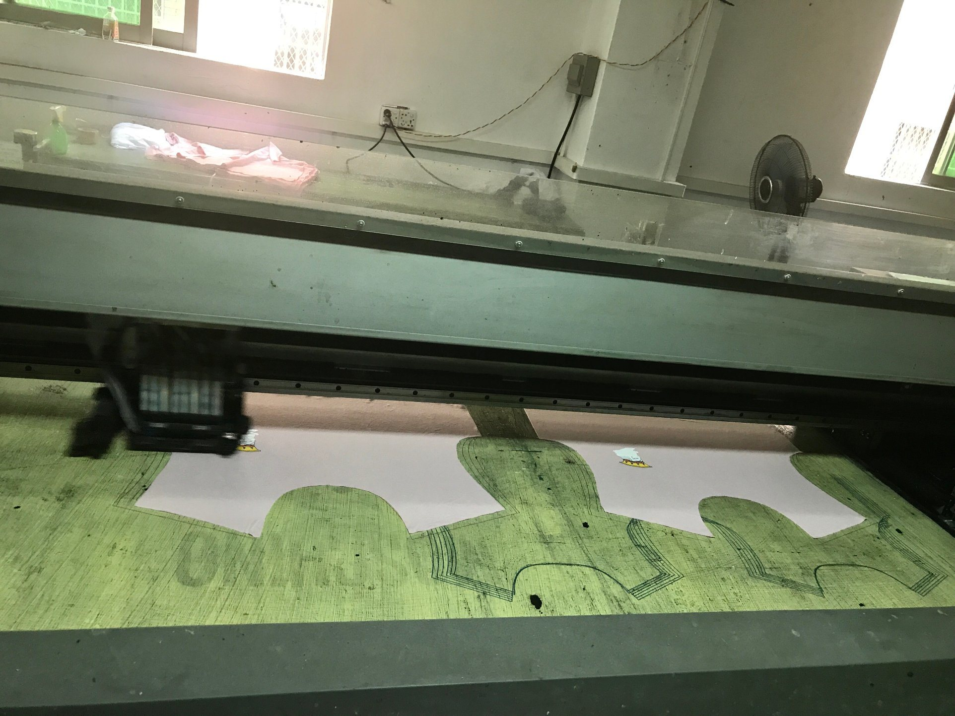 Screen Digital Flatbed Printer for Color Fabrics Direct Printing