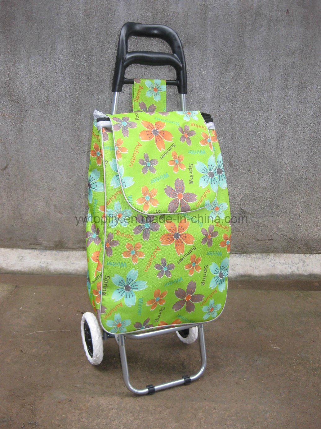 Folding Supermarket Shopping Trolley Luggage Cart