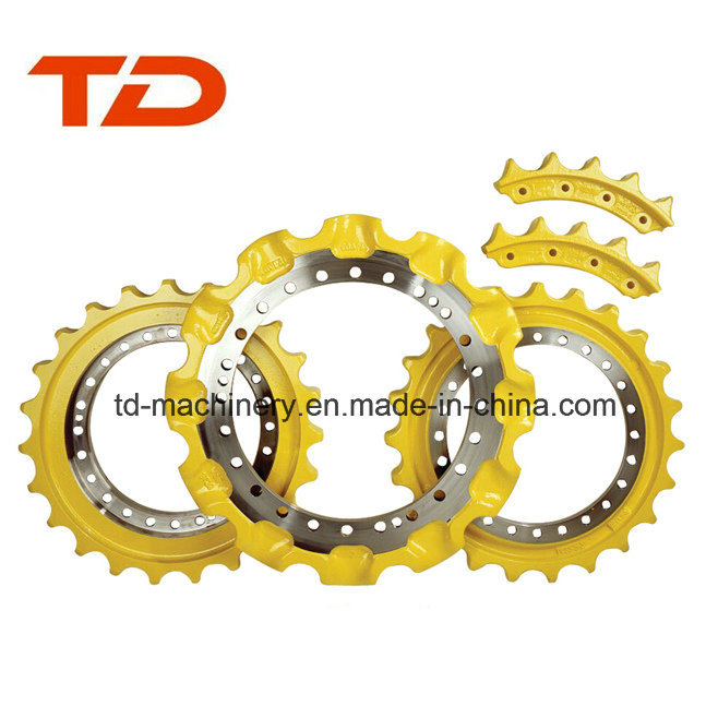Sprocket Segment Rim Components Parts Sprocket Crawler Excavator Customized Material