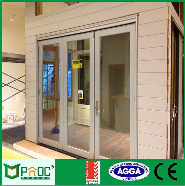 Top Quality Double Glazing Aluminium Folding Door with AS/NZS2047