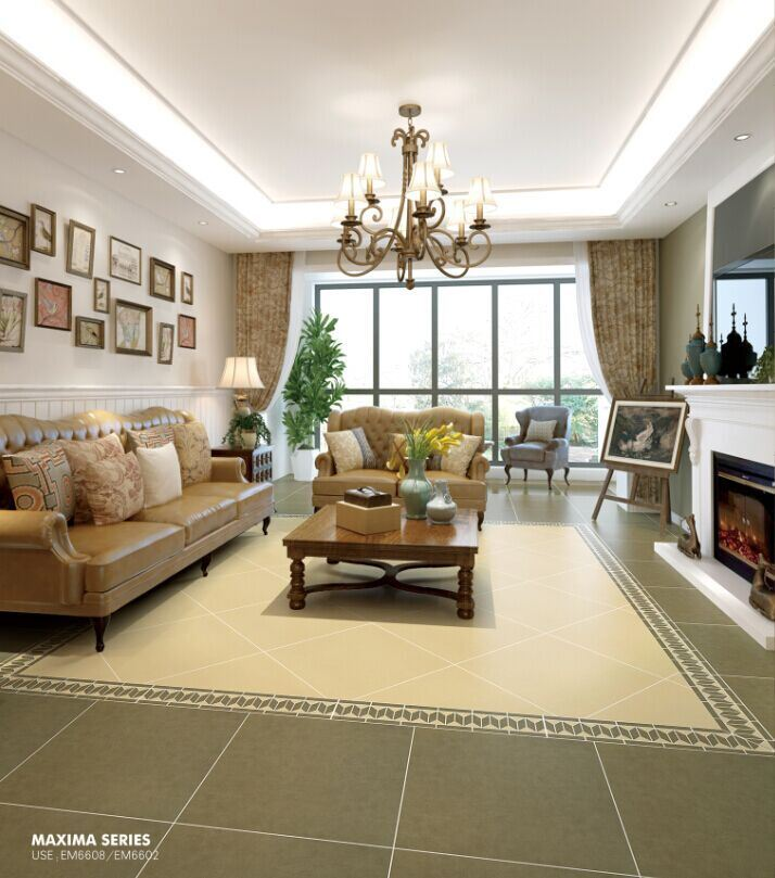 Building Material Porcelain Tiles 600*600mm Anti-Slip Rustic Beige Tile