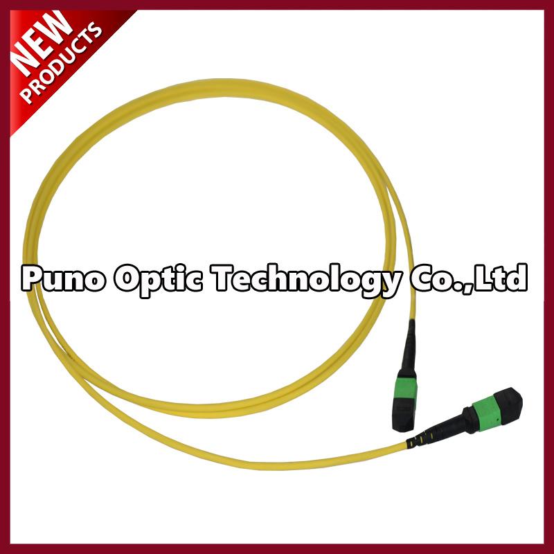12 Fibers OS2 Multimode MPO-MPO Fiber Optic Patch Cord