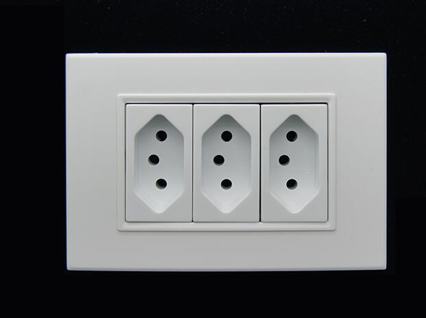 Double 20A Electric Switch and Socket for Brazil