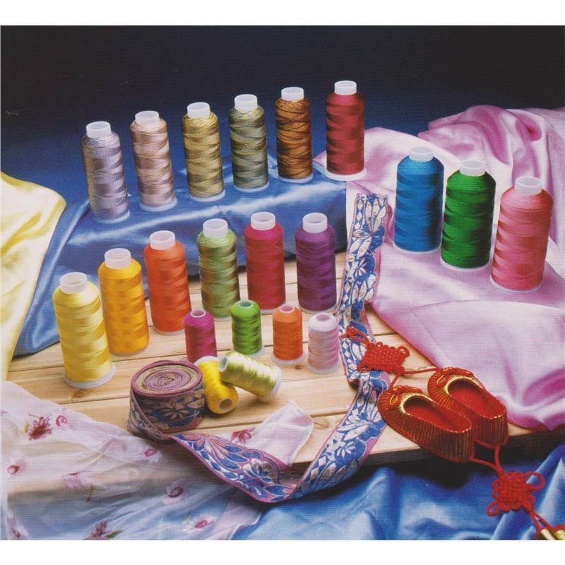 Shanfa 100% Viscose Embroidery Thread 120d/2 80GM