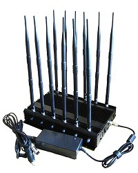 Mobile Phone Jammer with 12 Antennas Blocking All 2g, 3G, 4G Cell Phone Signal Jammer