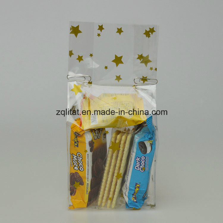 0.04mm BOPP Transparent Poly Gift Bag with Printed