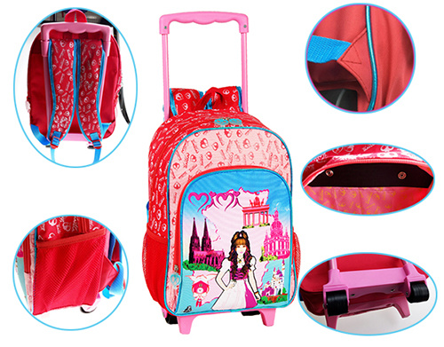 Roling School Backpacks for Girls (BF1608313/BF1608314/BF1608315)