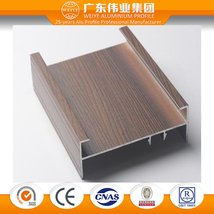 6063 Series Wood Grain Aluminium Window and Door Profile