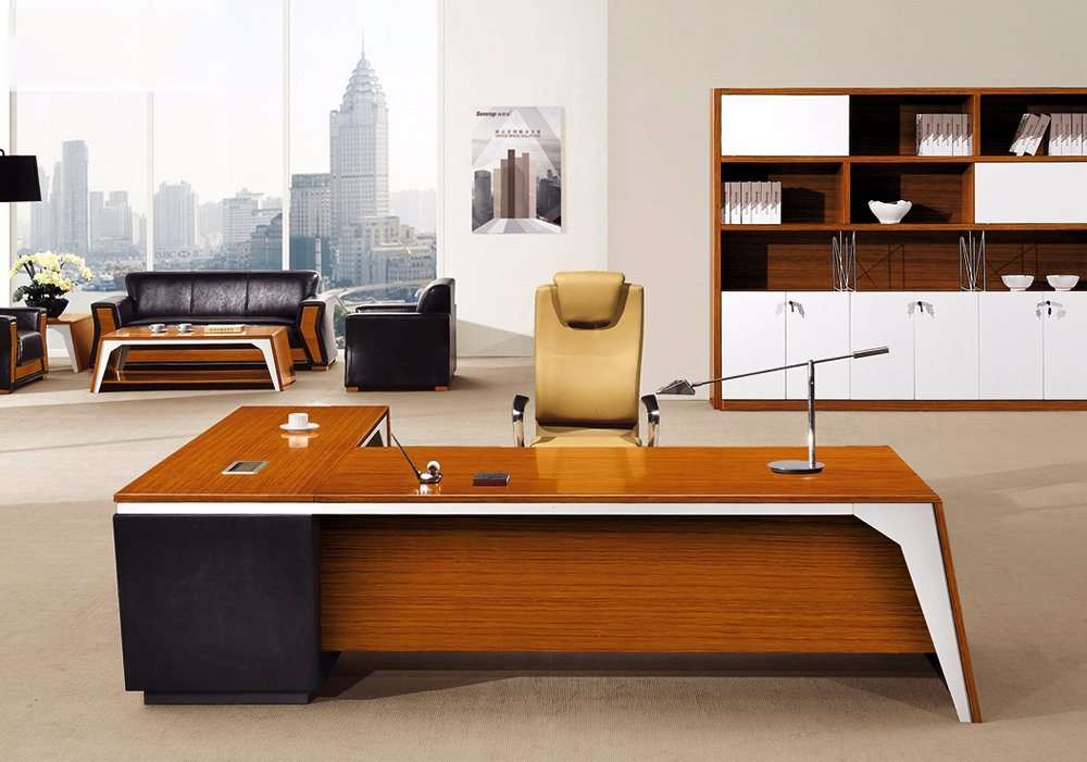 China Modern Office Furniture MFC Wooden MDF Office Table (NS-NW119)