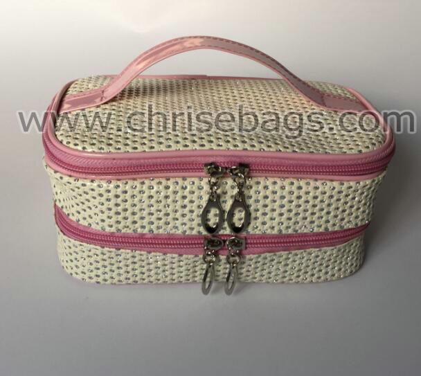 Artificial Leather Cosmetic Handbag