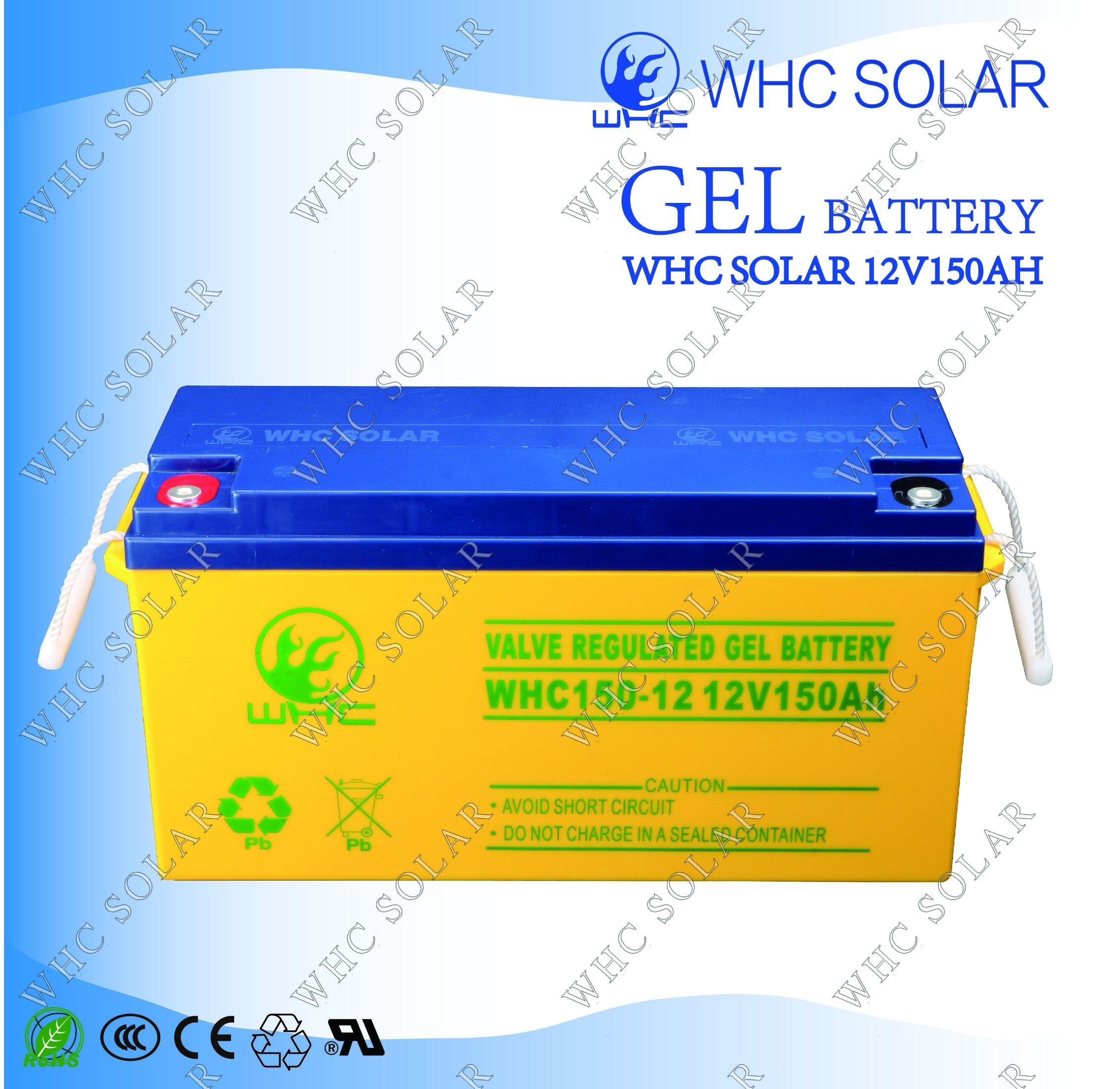 12V 150ah Solar Gel Battery for Solar Power System