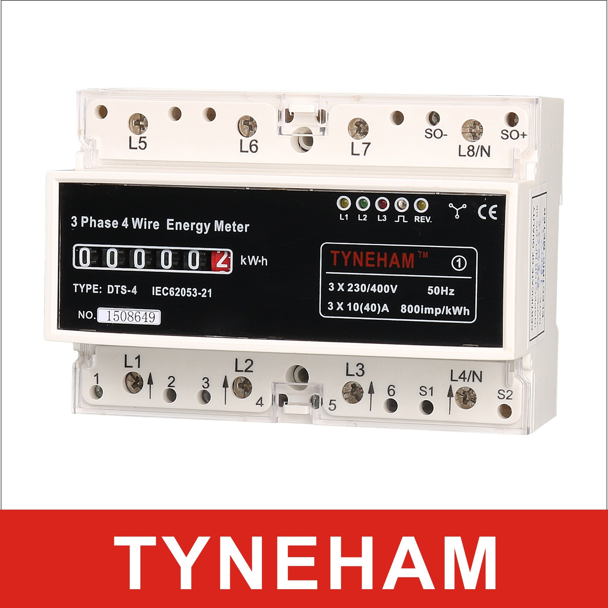 Dts-4r Series DIN Rial Mounted Three Phase Electronic Energy Meter