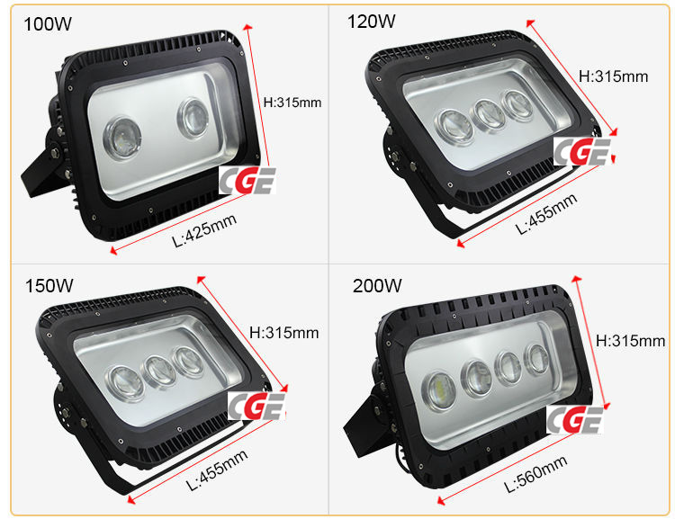 120W High Power Factory Price Outdoor Lighting LED Flood Light