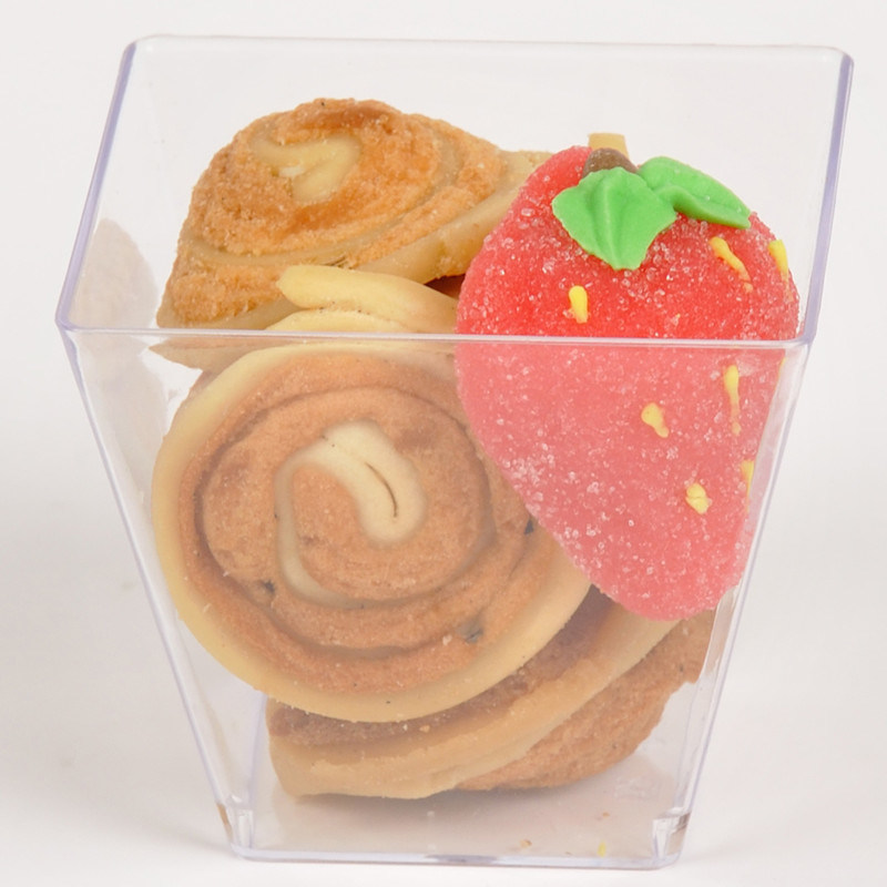PP/PS Plastic Cup Disposable Cup Dessert Cup with Lid