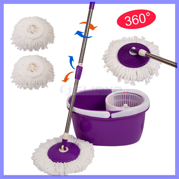 china living home clean tools new magic spin mop bucket no foot pedal rotate 360 degree cleaning tools double drive rotary mop retractable stainless steel