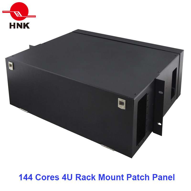 144 Cores 4u Rack Mount Fiber Optic Patch Panel
