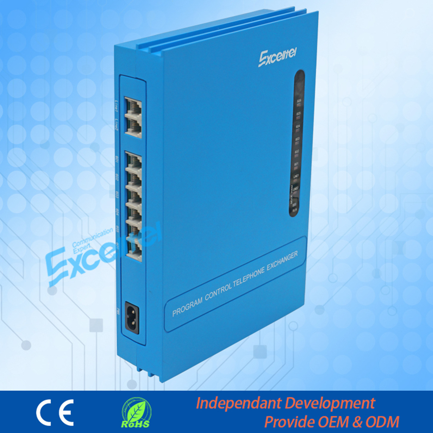Pabx Telephone System 2 Co Line 6 Extensions Office Intercom Telephone Exchange