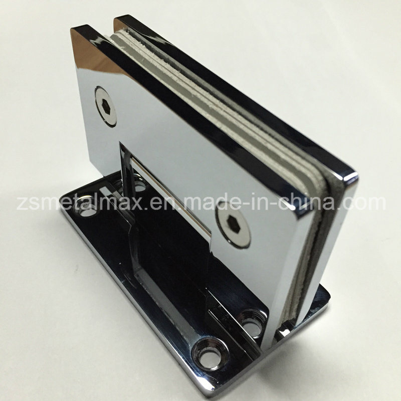 Stainless Steel Brass 90 Degree Glass Hardware Clamp Door Shower Hinge (YH204)