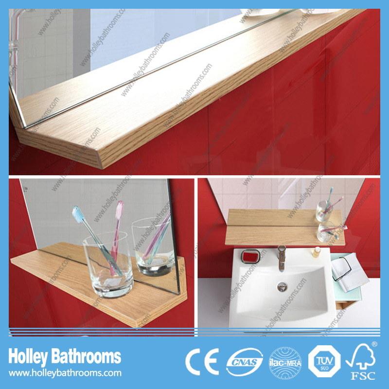 Modern Wood MDF Bathroom Furniture Glass Craft with Storage Cabinet (BF140D)