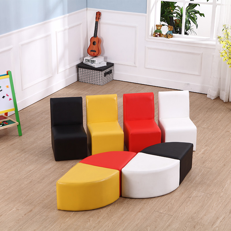 Home Sofa Set - Kids Furniture Chair with Ottoman