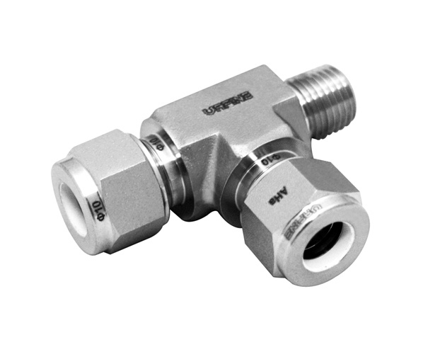 Stainless Steel Two Ferrule Tee Tube Fittings