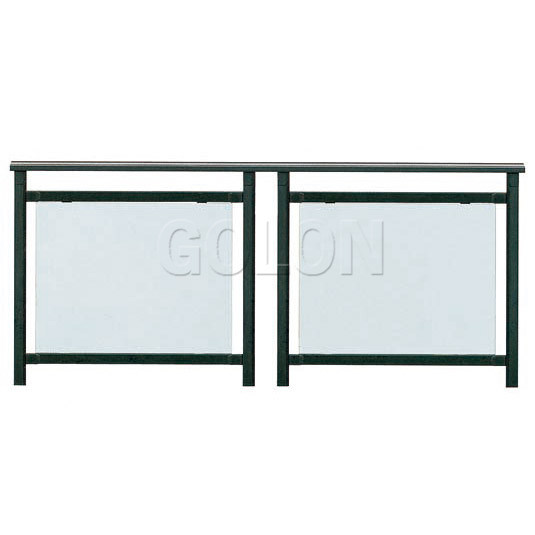 Galvanized Steel Glass Deck Railing