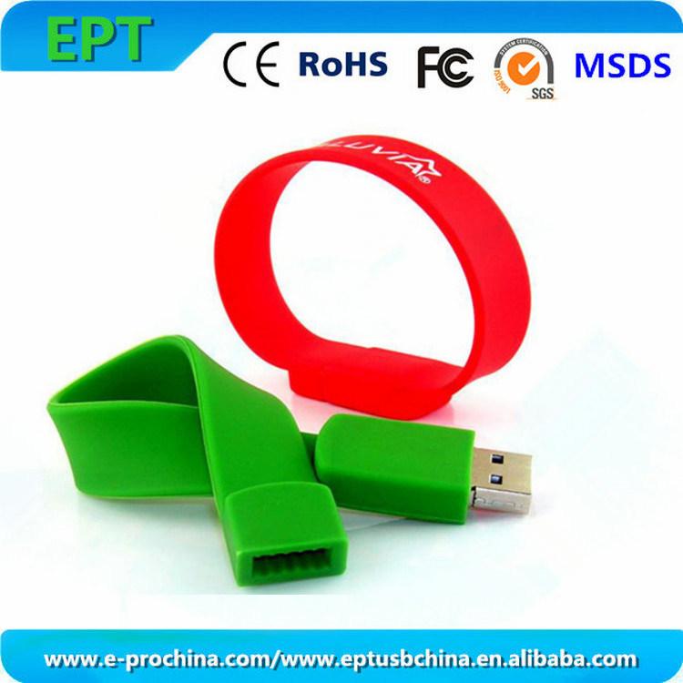 Customized Logo Silicon Flash Memory Sticks Pen USB Drive (WB001)