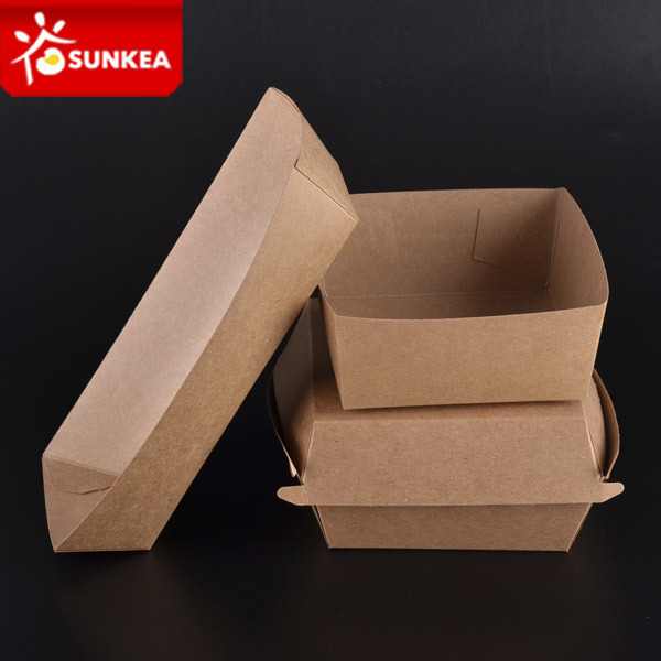 Disposable Colour Printed Paper Food Packing Tray