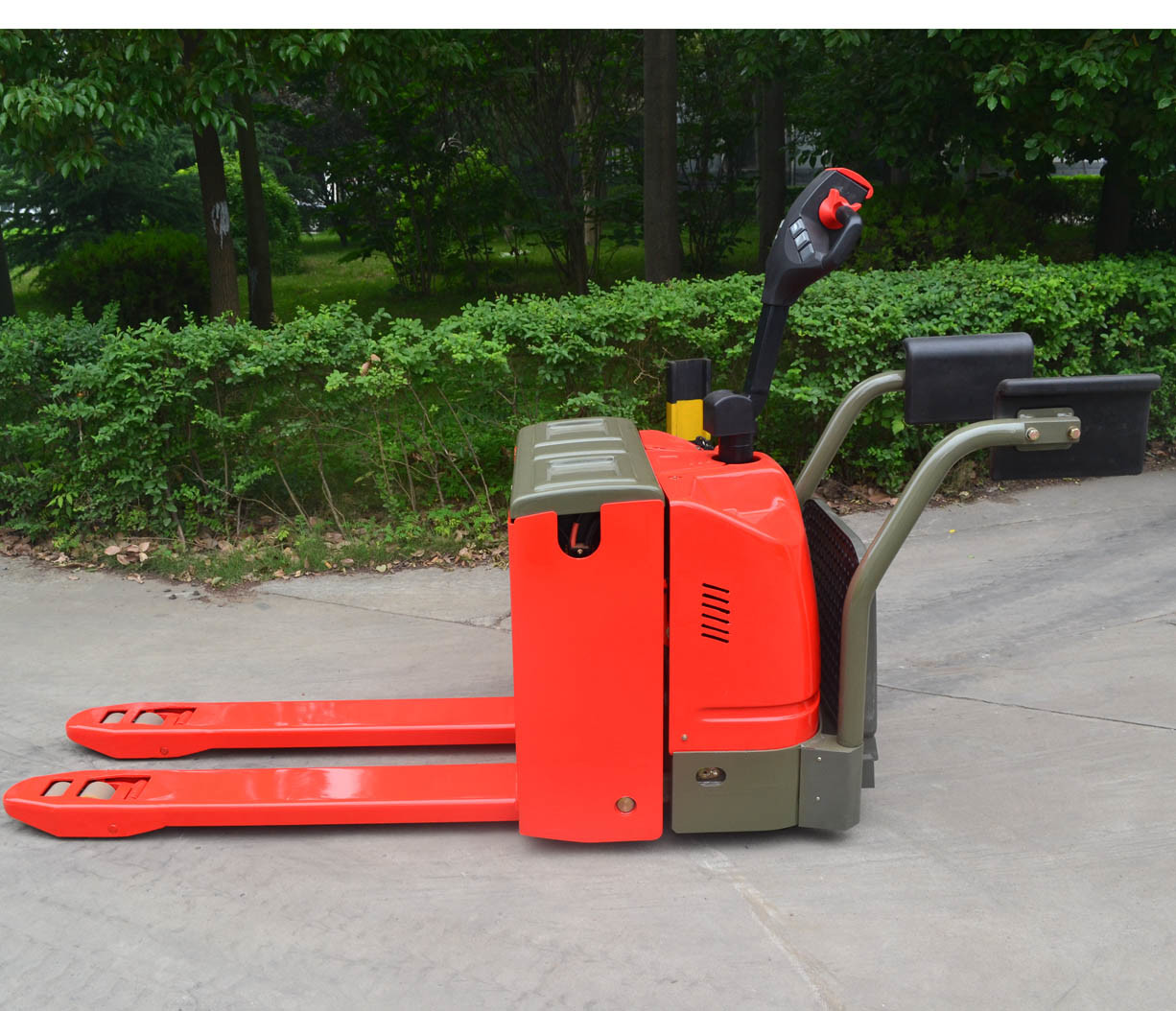 AC Driving Motor Electric Pallet Truck with Arm Rest